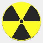 Advertencia de la radiación de la etiqueta del