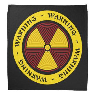 Advertencia de la radiación del arte gráfico bandana