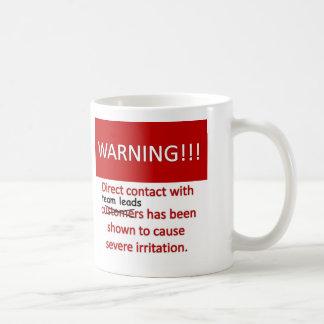 Advertencia de la ventaja del equipo taza clásica