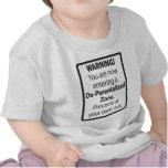 ¡Advertencia! De-Parentalized Zone Camisetas
