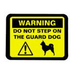 Advertencia (de pelo largo) del perro guardián de  iman flexible