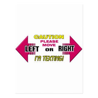 Advertencia de Texting Postal