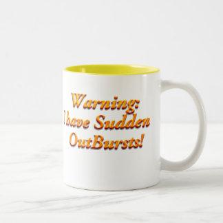 Advertencia del arrebato, advertencia del arrebato taza de café de dos colores