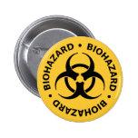 Advertencia del Biohazard Pin Redondo 5 Cm