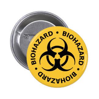 Advertencia del Biohazard Pin Redondo De 2 Pulgadas