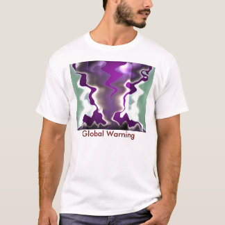 advertencia del calentamiento del planeta GLOble Playera