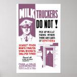 Advertencia del camionero FDA de la leche Posters
