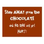 Advertencia del chocolate de Chocoholic Postales