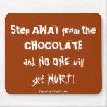 Advertencia del chocolate de Chocoholic Tapete De Raton