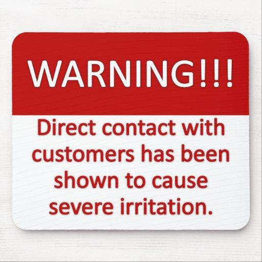 Advertencia del cliente tapete de raton