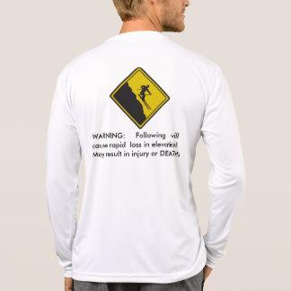 Advertencia del esquí - pérdida rápida de la eleva camiseta