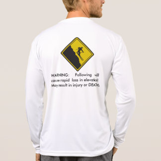 Advertencia del esquí - pérdida rápida de la camiseta