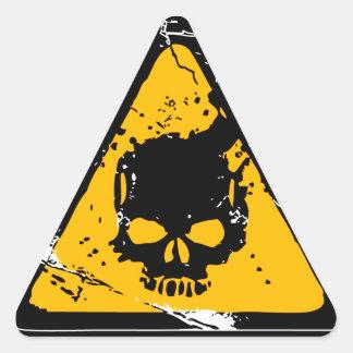 Advertencia del HEADSHOT Calcomanías De Triangulos