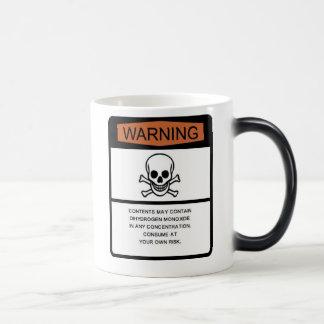 Advertencia del monóxido del biácido taza mágica