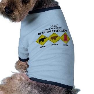 Advertencia del oso de Gummi - fauna de Tahoe Camisetas De Mascota