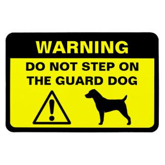 Advertencia del perro guardián de Jack Russell Ter Imán De Vinilo