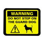 Advertencia del perro guardián de la chihuahua imanes flexibles