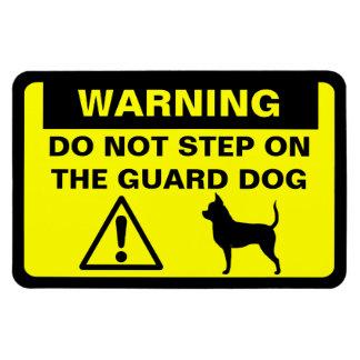 Advertencia del perro guardián de la chihuahua rectangle magnet