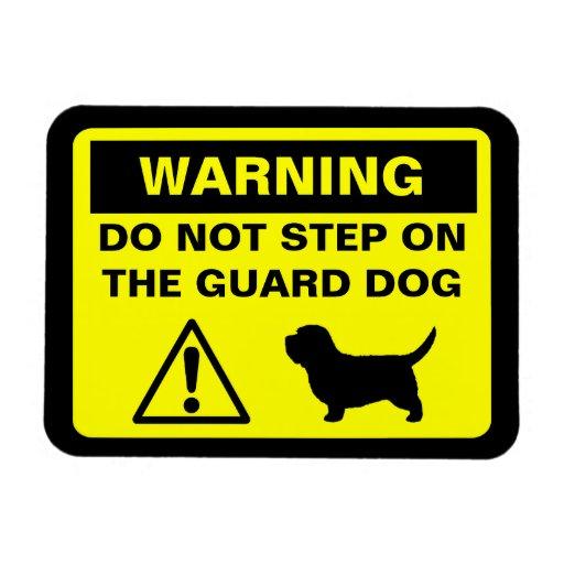 Advertencia del perro guardián de PBGV Imán