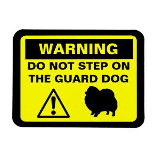 Advertencia del perro guardián de Pomeranian Imanes Flexibles