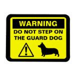 Advertencia del perro guardián del Corgi Galés del Imanes De Vinilo