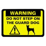 Advertencia del perro guardián del fox terrier del imán