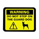 Advertencia del perro guardián del fox terrier del imanes flexibles