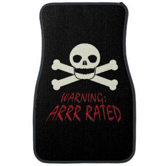 Advertencia del pirata - Arrr clasificado Alfombrilla De Coche