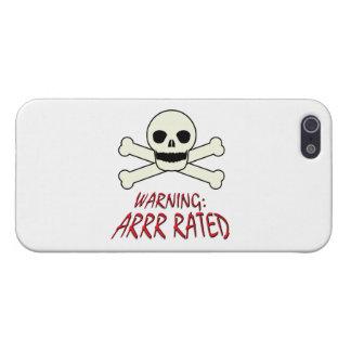 Advertencia del pirata - Arrr clasificado iPhone 5 Carcasa