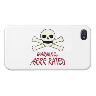 Advertencia del pirata - Arrr clasificado iPhone 4 Protector