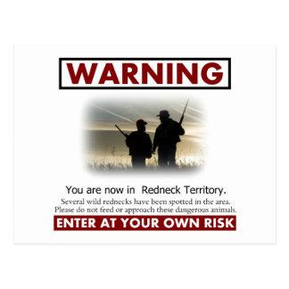 Advertencia del territorio del campesino sureño tarjetas postales