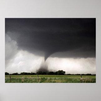 Advertencia del tornado póster