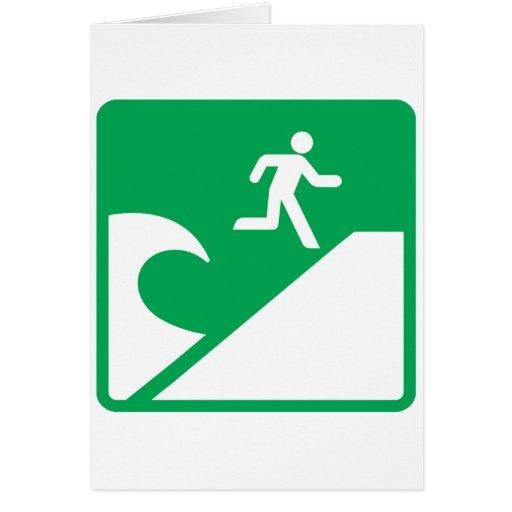 Advertencia del tsunami tarjeta de felicitación