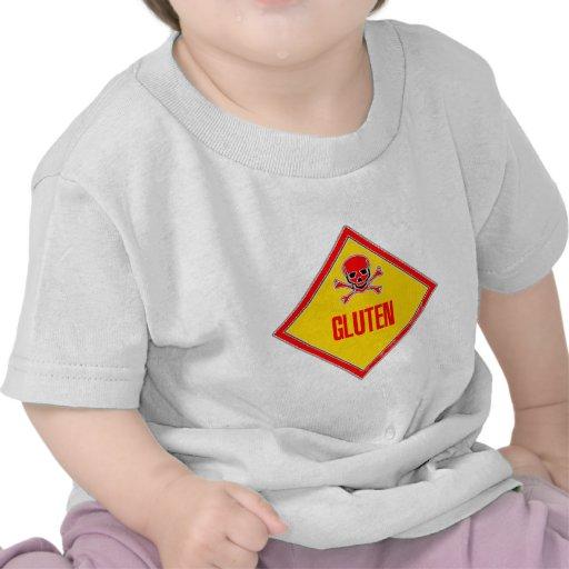 Advertencia del veneno del gluten camiseta