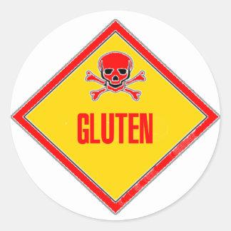 Advertencia del veneno del gluten etiqueta