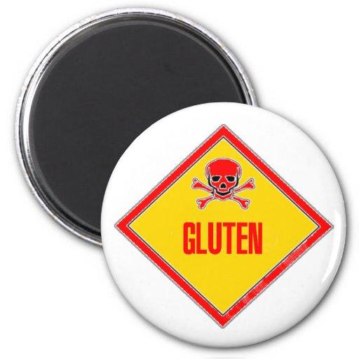 Advertencia del veneno del gluten imán de frigorifico