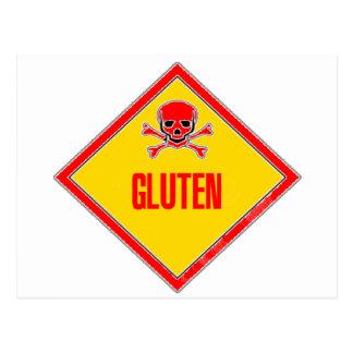 Advertencia del veneno del gluten postales