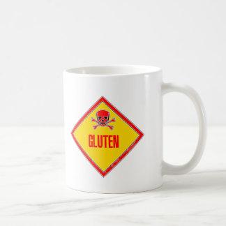 Advertencia del veneno del gluten tazas