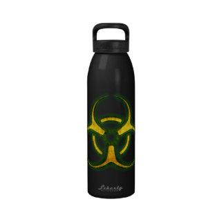 Advertencia del zombi del Biohazard Botellas De Beber