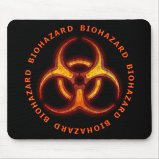 Advertencia del zombi del Biohazard Alfombrillas De Raton