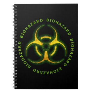 Advertencia del zombi del Biohazard Libros De Apuntes Con Espiral