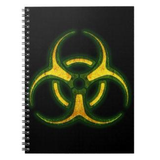 Advertencia del zombi del Biohazard Libro De Apuntes Con Espiral