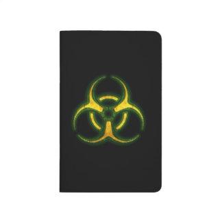 Advertencia del zombi del Biohazard Cuadernos Grapados