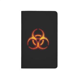 Advertencia del zombi del Biohazard Cuadernos