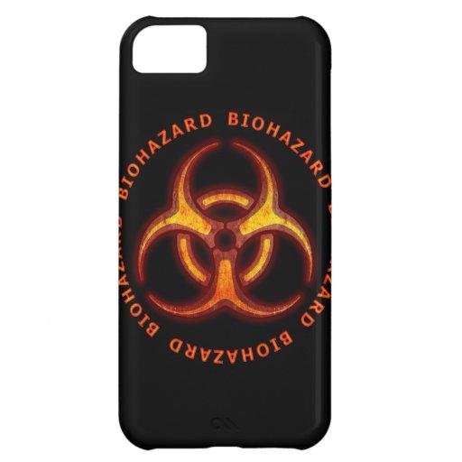 Advertencia del zombi del Biohazard Funda Para iPhone 5C
