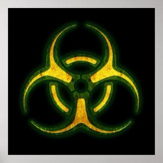 Advertencia del zombi del Biohazard Impresiones