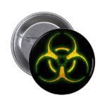 Advertencia del zombi del Biohazard Pin
