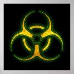 Advertencia del zombi del Biohazard Póster