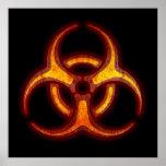 Advertencia del zombi del Biohazard Posters