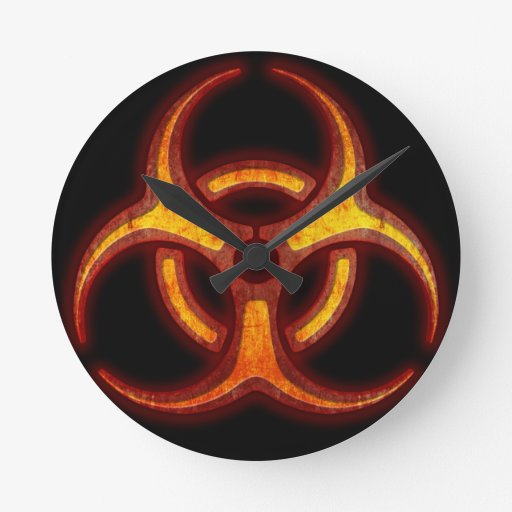 Advertencia del zombi del Biohazard Reloj